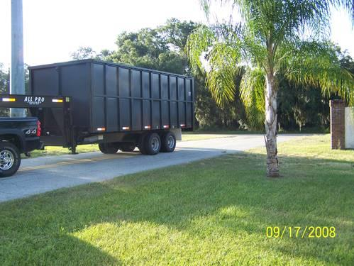 2007 GOOSE NECK DUMP TRAILER 37 CU YARDS - GVWR 24,000