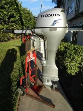 2007 honda 9 9 hp 4 stroke outboard motor power thrust for Honda outboard motors for sale used