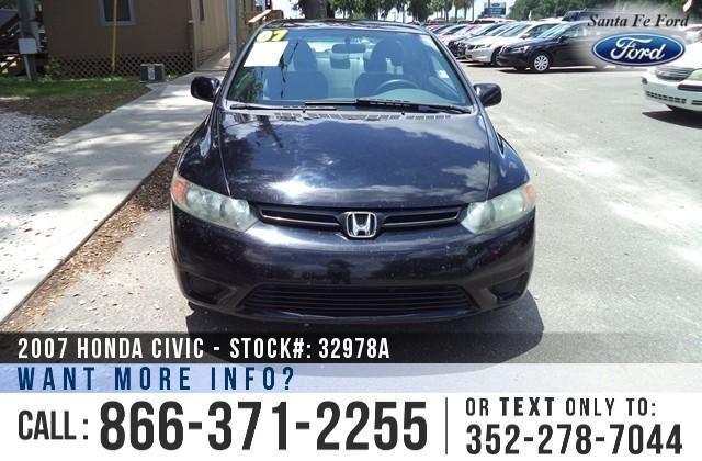 2007 Honda Civic LX - Coupe - Tinted Windows