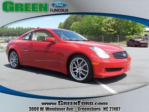 2007 infiniti g35 2 door coupe for sale in greensboro. Black Bedroom Furniture Sets. Home Design Ideas