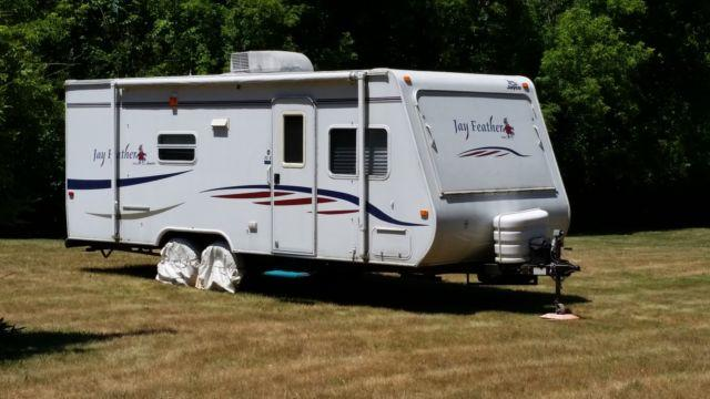 Travel Trailers For Sale In Michigan >> 2007 Jayco Jay Feather 24ft with Slide for Sale in Potterville, Michigan Classified ...