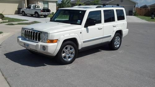 3 Row Jeep >> 2007 Jeep Commader Limited 4x4 V8 White Suv 3 Row Fully Loaded For