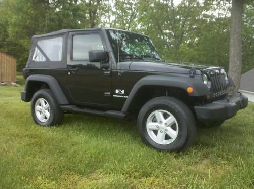 2007 jeep wrangler x 4x4 black 6 cyl automatic md inspected for sale in olney maryland. Black Bedroom Furniture Sets. Home Design Ideas