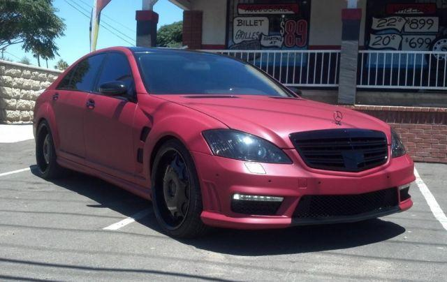 2007 Mercedes Benz S550 Full S65 Amg Conversion Custom Red