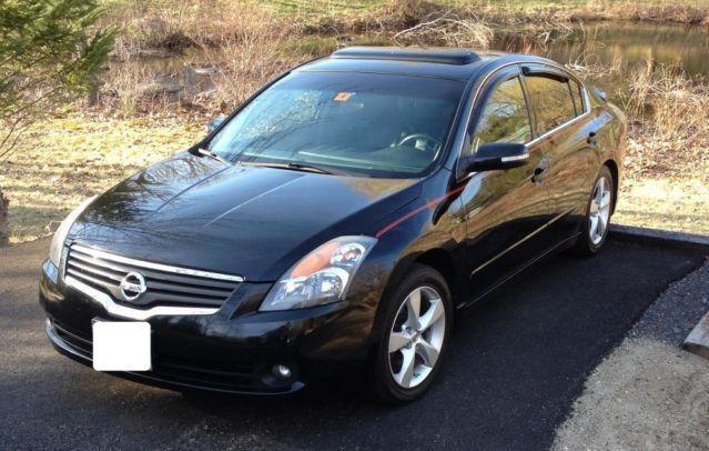 2007 Nissan Altima Se 35l Black On Black Leather For Sale In Hudson