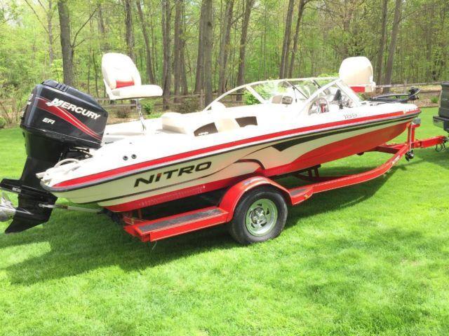 2007 nitro 19 39 fish bass and ski boat 150hp mercury for Fish and mercury