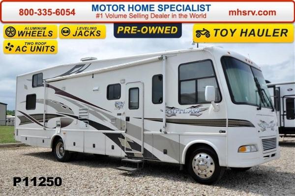 2007 thor motor coach outlaw 3611 toy hauler w slide for for Motor home specialist inc alvarado texas