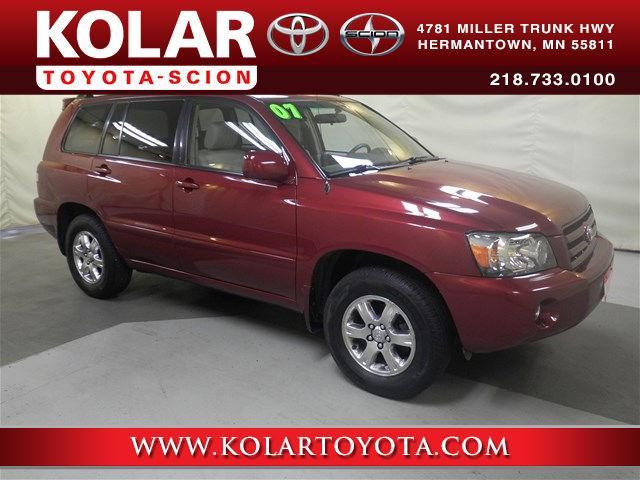Kolar Toyota Duluth Minnesota >> 2007 Toyota Highlander Base AWD 4dr SUV V6 for Sale in ...