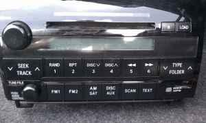 2007 -2010 TOYOTA TUNDRA STOCK CD PLAYER - $50