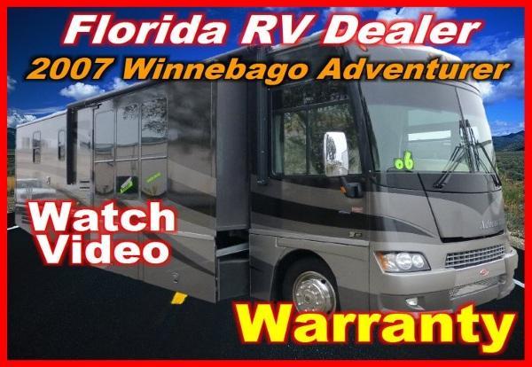 2007 winnebago adventurer 38j for sale in port charlotte florida classified. Black Bedroom Furniture Sets. Home Design Ideas