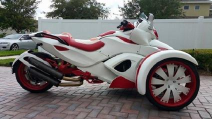 ˆ2008 Custom White And Red Can Am Spyder Ready For Sale In