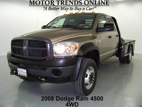 2008 dodge ram 4500 truck 4wd quadcab flatbed gooseneck for sale in alvin texas classified. Black Bedroom Furniture Sets. Home Design Ideas