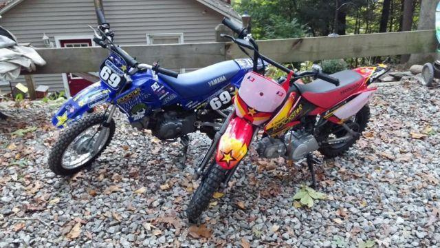 2008 Honda Crf70f and Yamaha TTR90 Dirtbikes