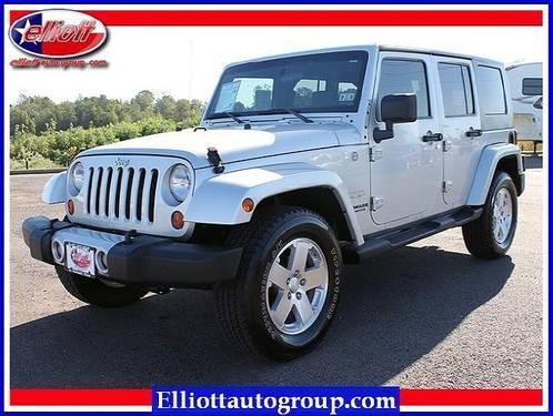 2008 jeep wrangler suv 4wd 4dr unlimited sahara for sale for Elliott motors mt pleasant tx
