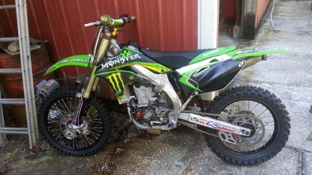 2008 Kawasaki KX450 f monster energy motocross dirt bike MANY XTRAS