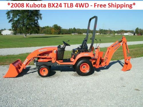 Used Tires Mobile Al >> 2008 Kubota BX24 TLB 4WD, 23hp - Free Shipping for Sale in ...