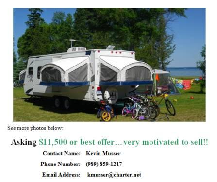 2008 Kz Coyote 23CFK Hybrid Travel Trailer with Expandable Beds for Sale in Auburn, Michigan ...