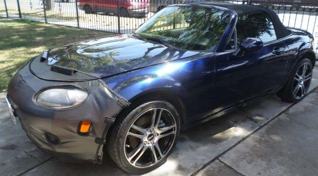 2008 mazda mx 5 miata automatic convertible blue salvage title for sale in lynwood california. Black Bedroom Furniture Sets. Home Design Ideas