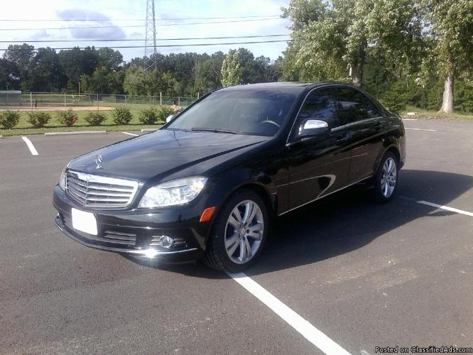 2008 mercedes benz c 300 beautiful black beauty privacy glass sharp for sale in godfrey. Black Bedroom Furniture Sets. Home Design Ideas