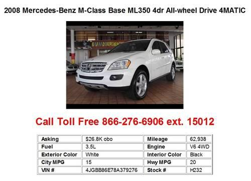 2008 Mercedes-Benz M-Class Base ML350 4dr All-wheel