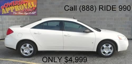 2008 Pontiac G6 For Sale 4 Door White With Black