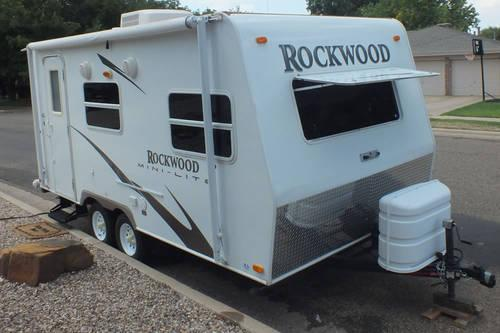 2008 rockwood mini lite 1809 forest river rv travel trailer for sale in lubbock texas. Black Bedroom Furniture Sets. Home Design Ideas