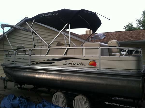 2008 Sun Tracker 21ft Pontoon Boat For Sale Or Trade For