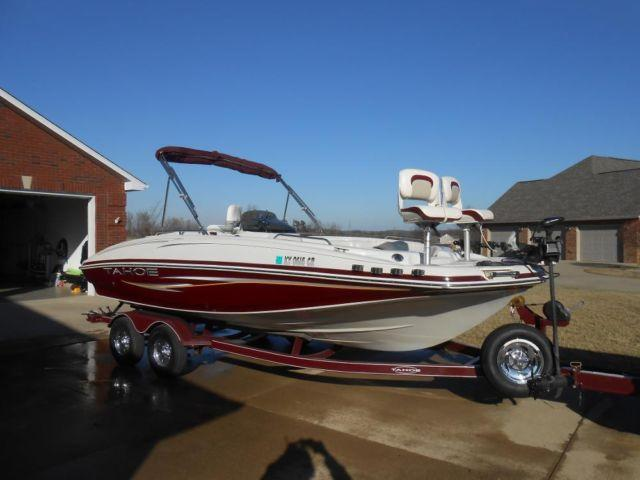 2008 tahoe 195 ski fish deck boat for sale in for Fishing deck boats