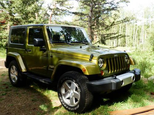 2008 Two Door Jeep Wrangler Sahara RESCUE GREEN