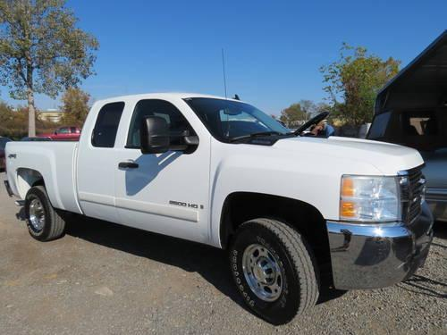 2008 chevy 2500 hd extended cab 4x4 vortec white for sale in bosco louisiana classified. Black Bedroom Furniture Sets. Home Design Ideas
