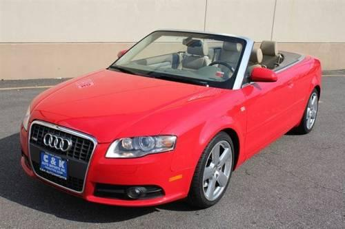 2009 audi a4 3 2 quattro convertible red tan navigation sport pkg park for sale in hasbrouck. Black Bedroom Furniture Sets. Home Design Ideas