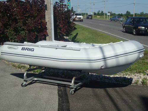 2009 Brig 9 10 Hardbottom Inflatable Boat Also Used Outboard