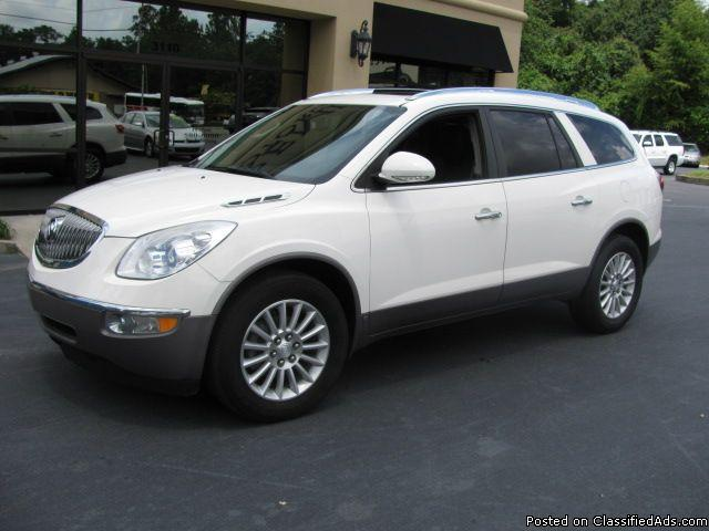 2009 buick enclave cxl package loaded third row seating for sale in tallahassee florida. Black Bedroom Furniture Sets. Home Design Ideas