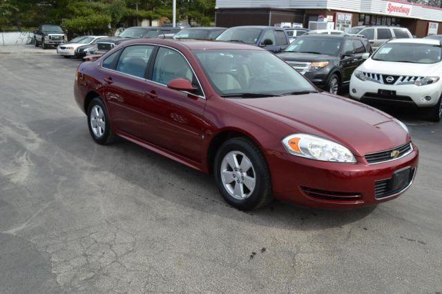 2009 Chevrolet Impala Lt Maroon Clean 75k Mi For Sale