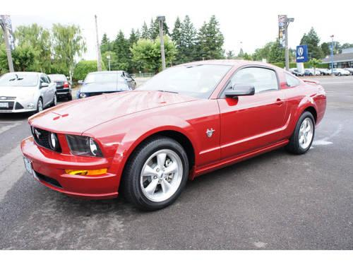 2009 ford mustang coupe for sale in salem oregon classified. Black Bedroom Furniture Sets. Home Design Ideas