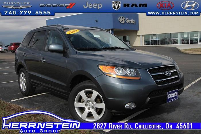 Herrnstein Hyundai Chillicothe Ohio >> 2009 Hyundai Santa Fe Limited Limited 4dr SUV for Sale in ...