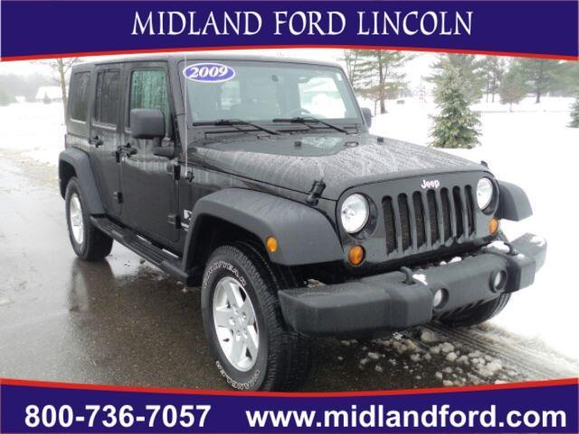 2009 jeep wrangler unlimited x 4x4 x 4dr suv for sale in midland michigan classified. Black Bedroom Furniture Sets. Home Design Ideas