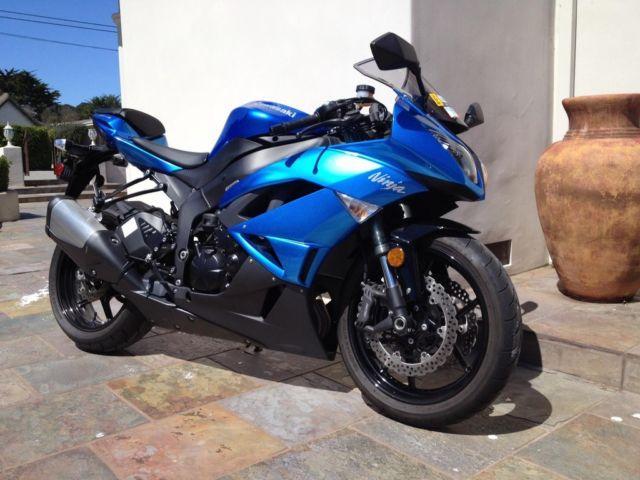 2009 Kawasaki Ninja ZX 6R Blue Black 1500 Mi 600cc