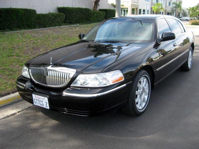 2009 Lincoln Town Car Signature L Black Excellent