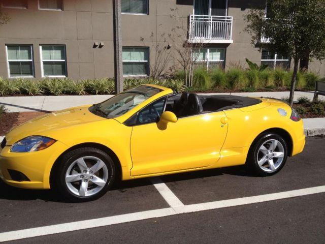 2009 mitsubishi eclipse spyder convertible yellow 62 200 miles for sale in saint petersburg. Black Bedroom Furniture Sets. Home Design Ideas