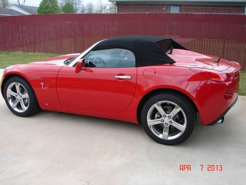 2009 Pontiac Solstice Roadster Gxp Convertible 0nly 2327
