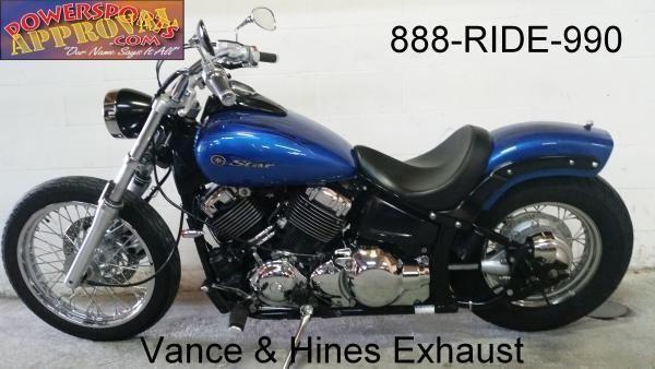 2009 used yamaha vstar 650 bobber motorcycle for sale u2207 for sale in sandusky michigan. Black Bedroom Furniture Sets. Home Design Ideas