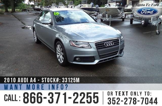 2010 Audi A4 20T Premium Plus - Leather Interior -