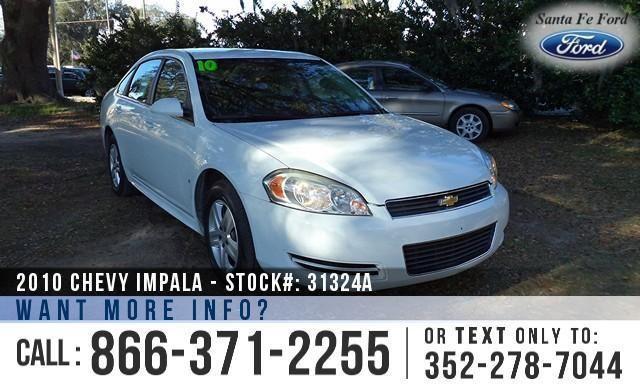 2010 Chevrolet Impala LS - Flex Fuel - IPOD/Aux Port