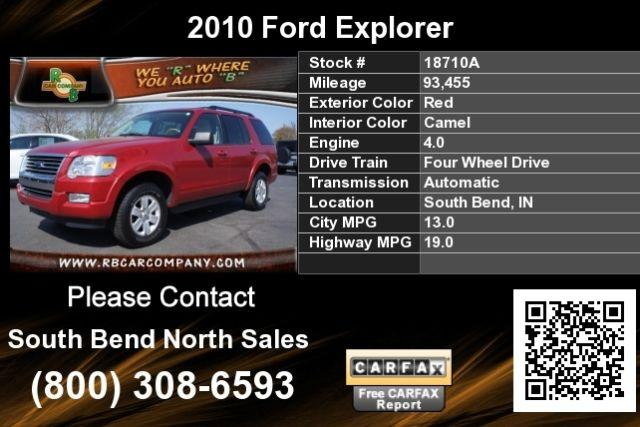 2010 ford explorer red for sale in south bend indiana. Black Bedroom Furniture Sets. Home Design Ideas