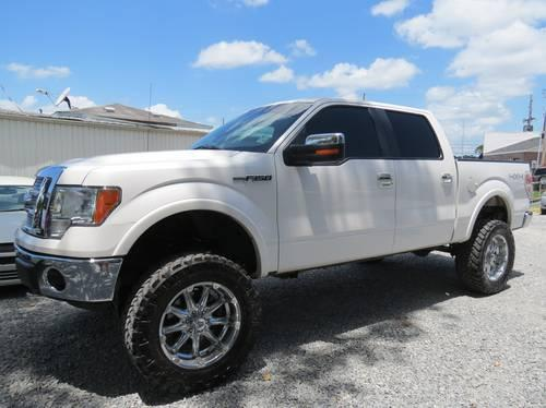 2010 Ford F150 Lariat 4x4 Crew Cab Lifted White
