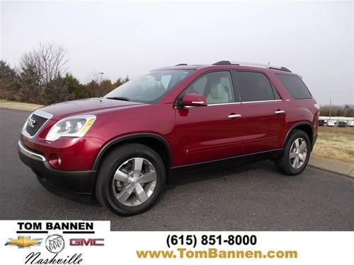 2010 gmc acadia suv slt w sunroof for sale in am qui tennessee classified. Black Bedroom Furniture Sets. Home Design Ideas