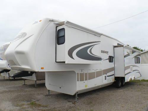 2010 Jayco Designer 35rlts Fifth Wheel 3 Slides Back