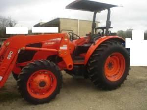 2010 Kubota M7040 Tractor 4WD 70HP Front Loader