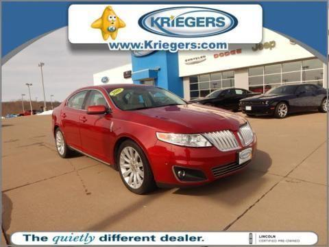 2010 lincoln mks 4 door sedan for sale in muscatine iowa classified. Black Bedroom Furniture Sets. Home Design Ideas